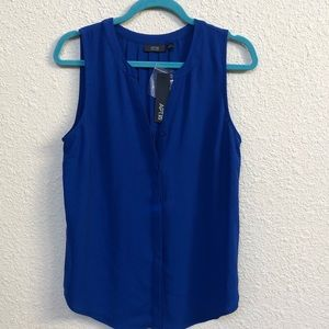 Blue silky top